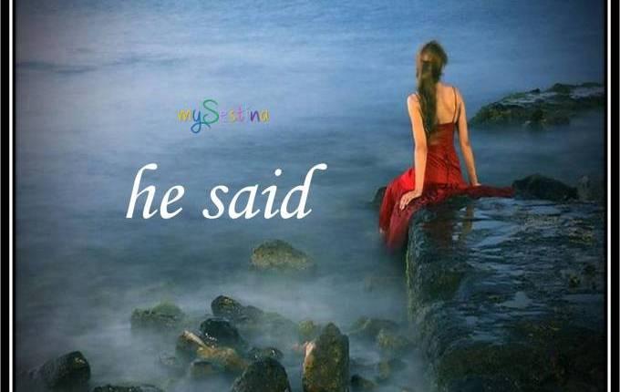 he said