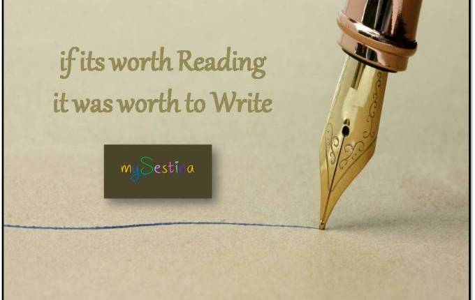 if its worth Reading – it was worth toWrite