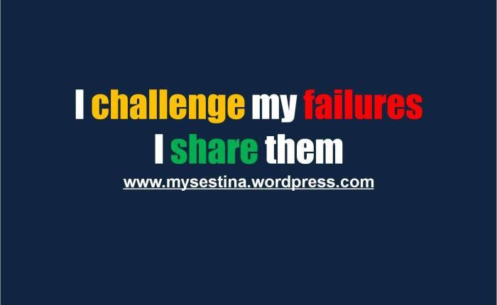 Let's Challenge ourFailures