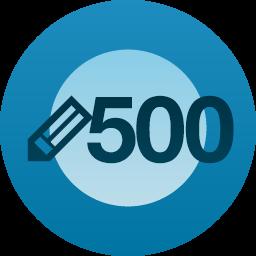 Congratulations on writing 500 posts onmySestina!